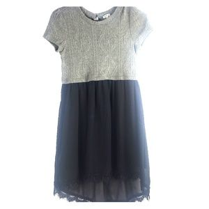 Monteau girls dress black gray size large 14